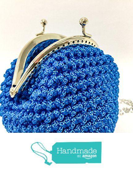 INGRID - Portamonete blu pochette vintage uncinetto chiusura clic clac da Italian Craft Handmade https://www.amazon.it/dp/B01MRGNRBW/ref=hnd_sw_r_pi_dp_zLmkybXY6BPGJ #handmadeatamazon