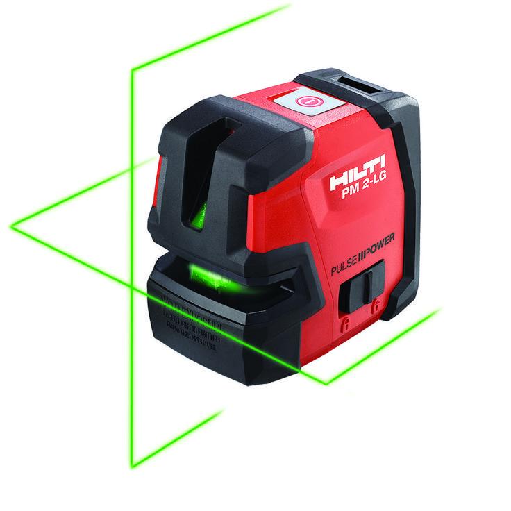 PM 2-LG Laser de linha de feixe verde para alinhamentos na horizontal e vertical capaz de proporcionar excelente visibilidade, mesmo em ambientes de grande luminosidade