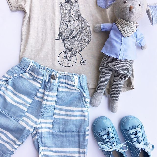 💙💙💙 // free shipping // toddler boy style // Rylee and Cru Cycling Bear tee on SALE now! // Hazel Village Mouse // Mini Melissa for boys // modern baby boutique // organic baby boutique // toddler boy outfit // baby boy clothes