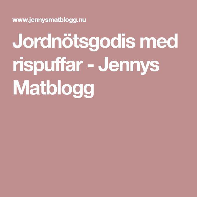 Jordnötsgodis med rispuffar - Jennys Matblogg