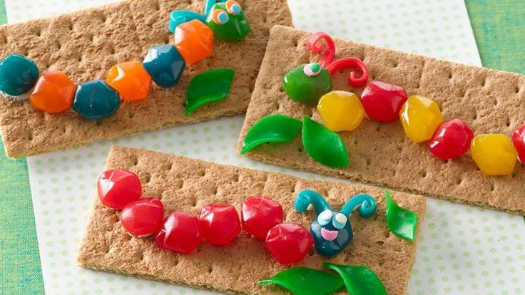These fun, fruity caterpillars are easy to make with your kids!  Also great to send in a lunch box as a special snack!