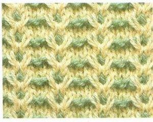 Двухцветный узор с завитками