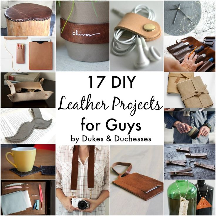 With Father's Day coming up, I've been thinking about creating something fun and manly using leather.  I like the clean, masculine look of brown leather and it only gets better as it ages and wears.  While I ponder my leather project, take a peek at these 17 DIY leather projects for guys! leather herb labels …
