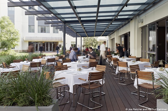 Glass canopy allows for table clothes restaurants bars cafes clubs pinterest table - Bar canopy designs ...