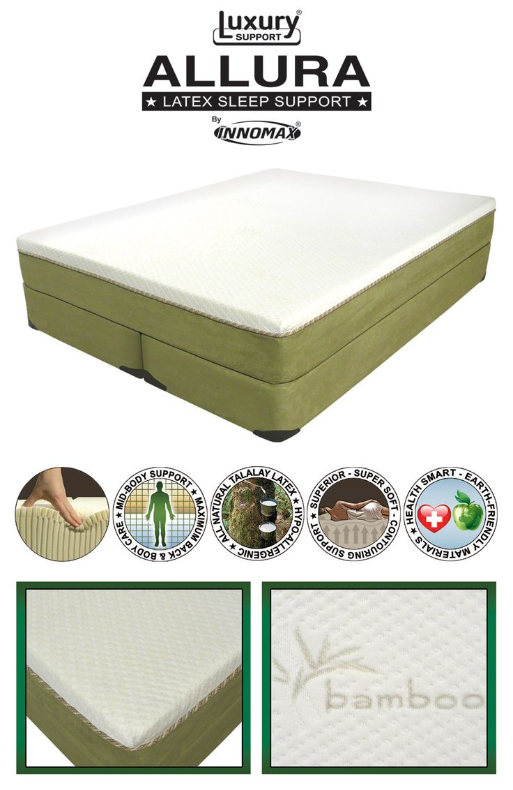 "Allura & Ultra-Pedic Eco-Friendly Self-Adjusting Sleep System  http://www.healthysleep.us/m7/2000--allura-ultra-pedic-eco-friendly-self-adjusting-sleep-system.html ~ The Memory Foam formulation features ""Made In USA"" Foamex Aerus Natural which is the answer to a temperature neutral night's sleep and is an environmentally friendly Viscoelastic foam manufactured with renewable plant based raw materials."