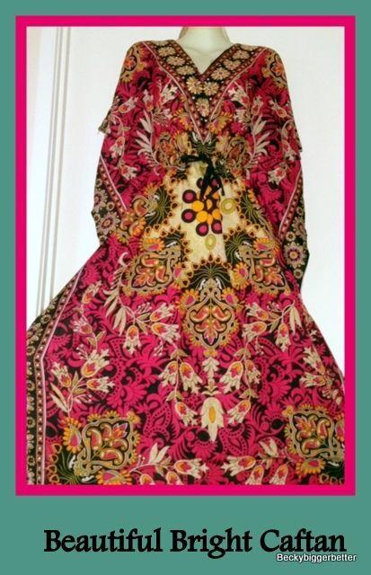Pink Floral colour Long Caftan Sundress Resort wear One Plus Size 18 20 22 24