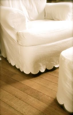 scallop detail on slipcover
