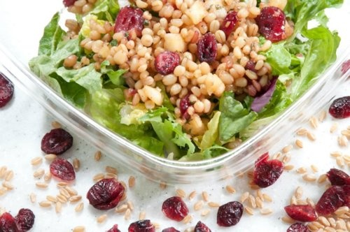 Litestars' Wheatberry Cranberries Gourmet Salad - a lot of fiber with a nutty taste and the sweetness of cranberriesWheatberry Pilaf, Wheatberry Cranberries, Glorious Food, Gourmet Salad, Cranberries Gourmet, Kids Livewell, Food Salad, Livewell Menu, Baby Shower
