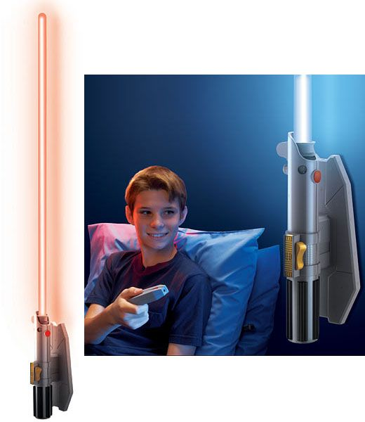 If you know a Star Wars fan who happens to fear the dark side of his/her room or who just loves lightsabers, the Star Wars Remote Control Lightsaber Room Light will help them wield the force at the touch of a button.  Star Wars Remote