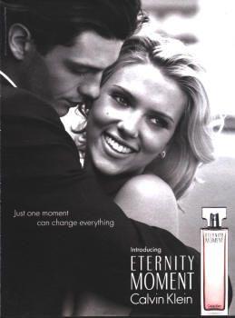 Eternity Moment by Calvin Klein with Scarlett Johansson (2004).
