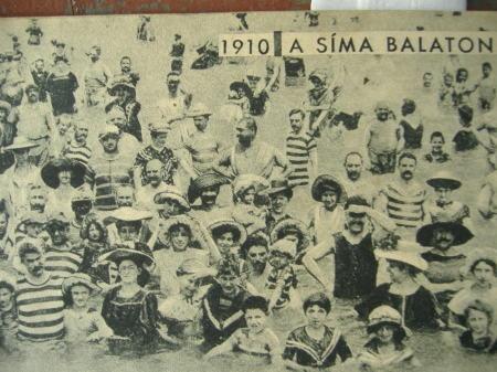 Bathers in Lake Balaton, 1910