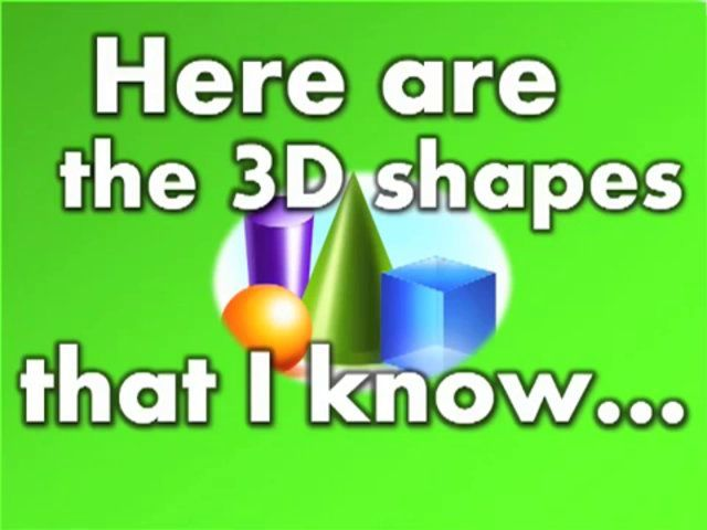 3D Shapes I Know (song for kids) on Vimeo