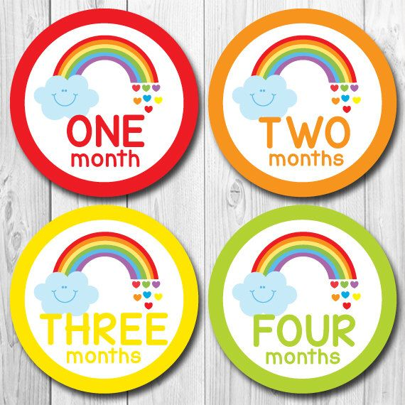 Baby Monthly Stickers, Rainbow Baby Month Stickers, Monthly Stickers, Monthly Baby Stickers, Baby Shower Gift, First Year Stickers, Rainbow by ChevronSmiles on Etsy https://www.etsy.com/listing/192964633/baby-monthly-stickers-rainbow-baby-month