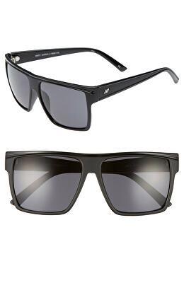 ad4ac2d25130 LE SPECS Designer Dirty Magic 56mm Rectangle Sunglasses
