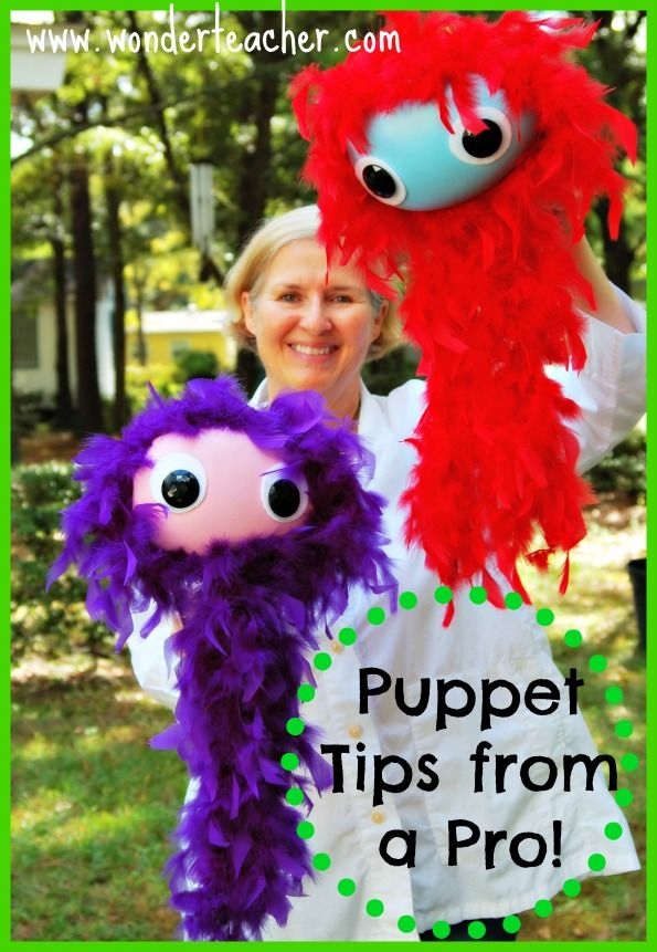 Puppet Tips for Teachers from a Professional Puppeteer! Great ideas for puppets in the classroom. With a video.