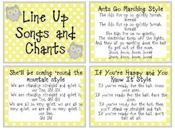 These 19 line up songs and chants are the perfect tool to use for those busy bodies to find their way into the line and get ready for the hall. Attach them to a ring and keep on a hook near your door for easy access.