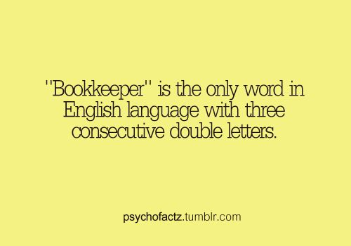 ... word in the English language with three consecutive double letters