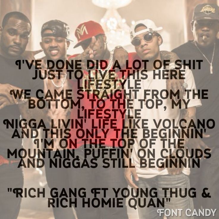 Lifestyle : Rich Gang Ft Young Thug & Rich Homie Quan @reayln You got this song in my Head.