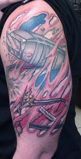 Barbershop tattoo tats pinterest tattoos and body art for Barber neck tattoos