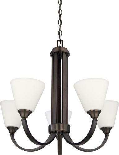"""Plaza 5 Light 22 50"""" Oil Rubbed Bronze Chandelier at"""