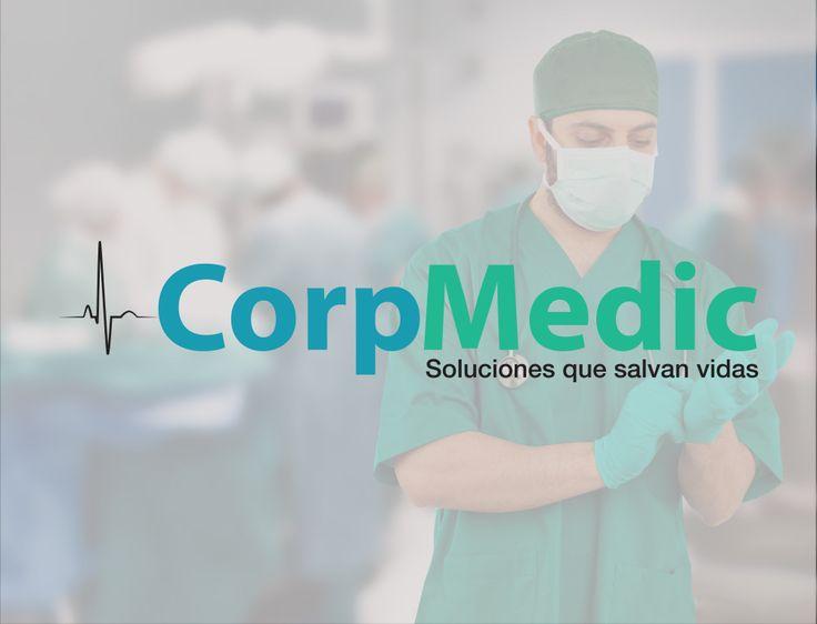 Distrito Federal CorpMedic Distribución de material quirúrgico.  Diseño de logotipo y simulación de papelería