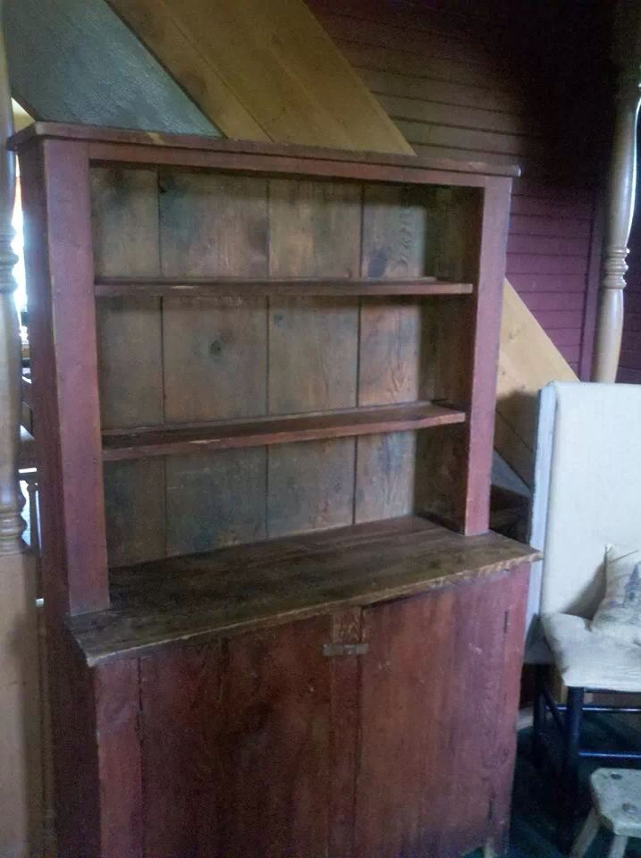 Coming home | stepback old dry red paint cupboard primitive - 51 Best Stepback Cupboards Images On Pinterest Colors, Antiques