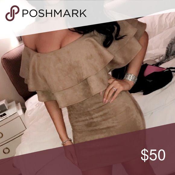 Nude mini dress Chocker nude mini dress Dresses Mini
