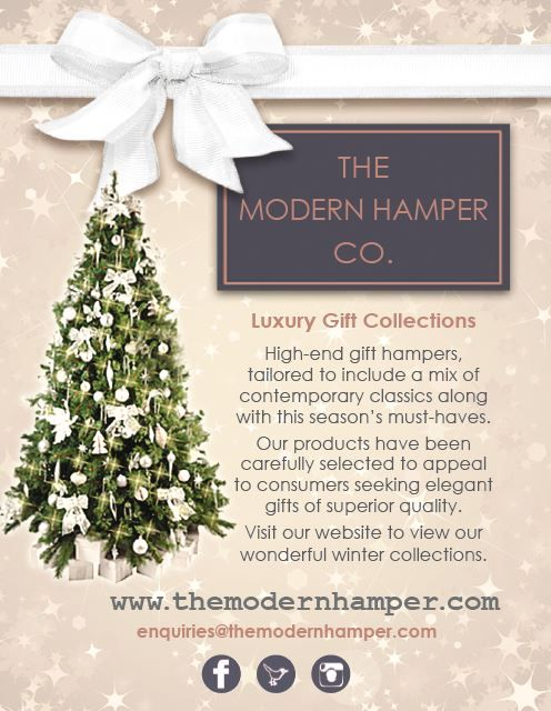 Did you see us in the Metro this morning? Don't miss out on our luxury gift hampers - www.themodernhamper.com #Christmashampers #gifts #festive #luxury