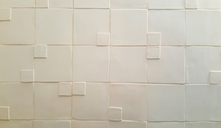 A 3D tile layout to excite the senses. #handmade #tiles