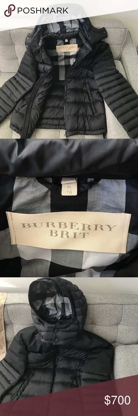 Burberry Down-filled Puffer Jacket (Men's XL) Purchased from Burberry store off of E 57th Ave in NYC Nov 2016. I have only worn this jacket twice, therefore it is like brand new. Extremely warm and stylish with a detachable hood. The coat is black with a reinforced upper material for wind, rain and snow protection. I hate to sell this amazing coat, but I live in Scottsdale, AZ and have zero need for winter coats anymore. *Note: I am also selling a Burberry wool coat purchased from the same…