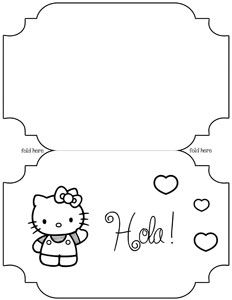 1000 images about hello kitty templates on pinterest for Hello kitty mask template