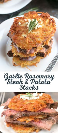 Seldom is heard a discouraging word about this Kansas recipe for steak and potatoes. The crispy garlic rosemary potato pancakes are a great base for anything, especially a lean, flavorful cut of USDA prime beef. One bite and you'll know why Kansas is in the business of stacking all them steaks.