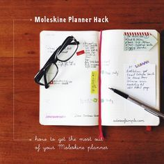 My Moleskine Planner Hack - here are some tips on how to make the most out of your Moleskine