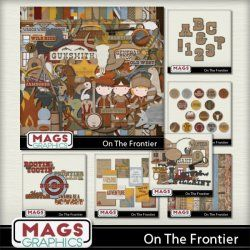 ON THE FRONTIER Western-themed Scrap Kit
