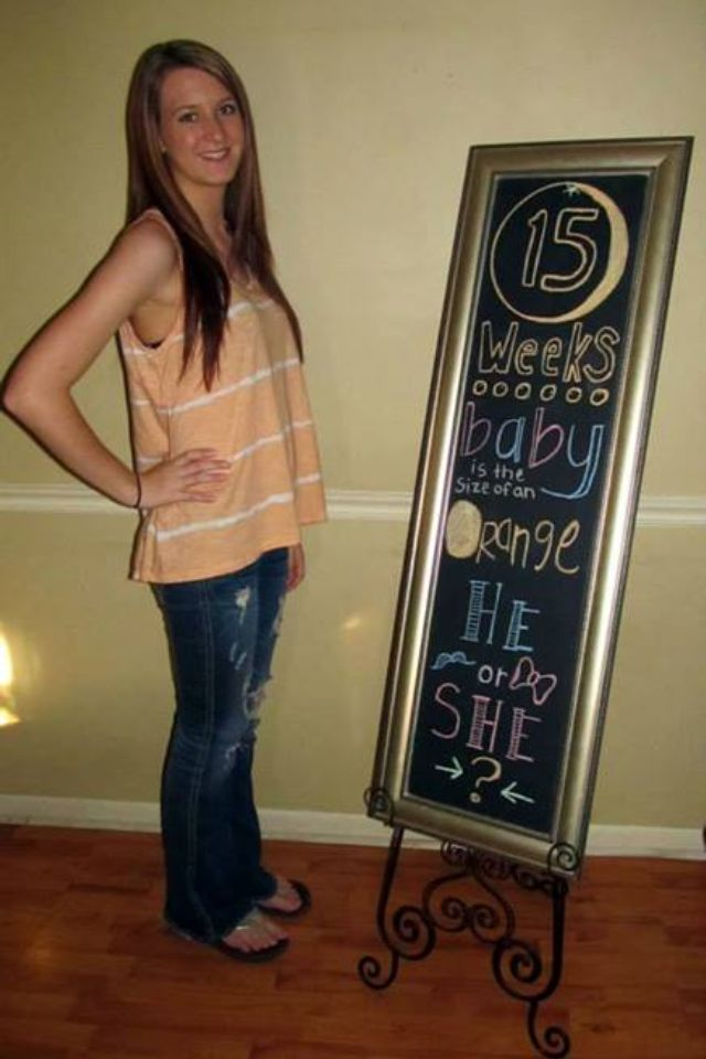15 week pregnancy chalkboard