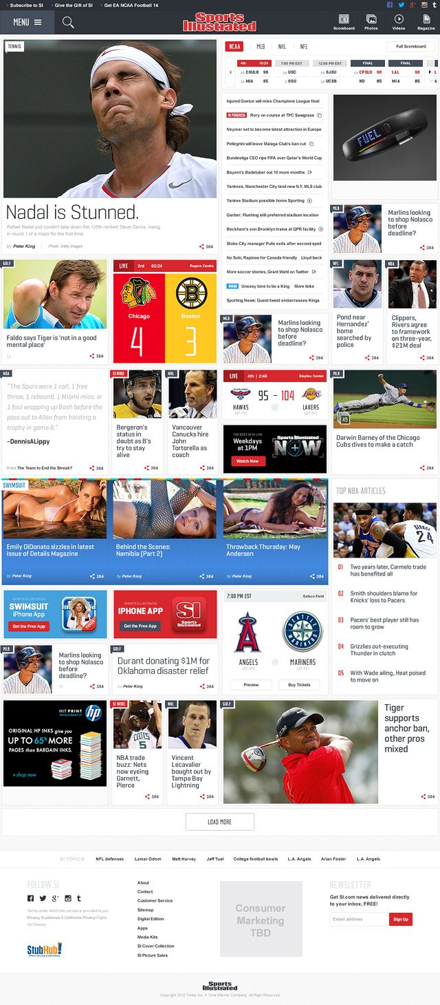portal web design | Sports Illustrated by FI - HomePage