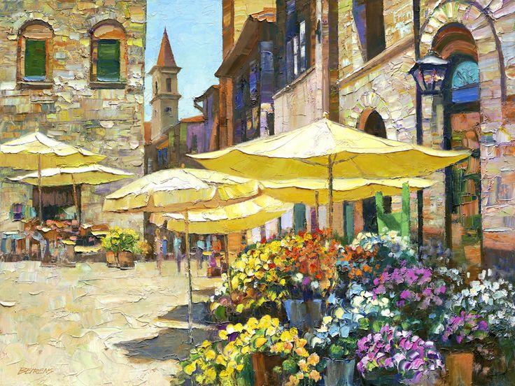 Courtyard in Sienna by Howard Behrens 37749