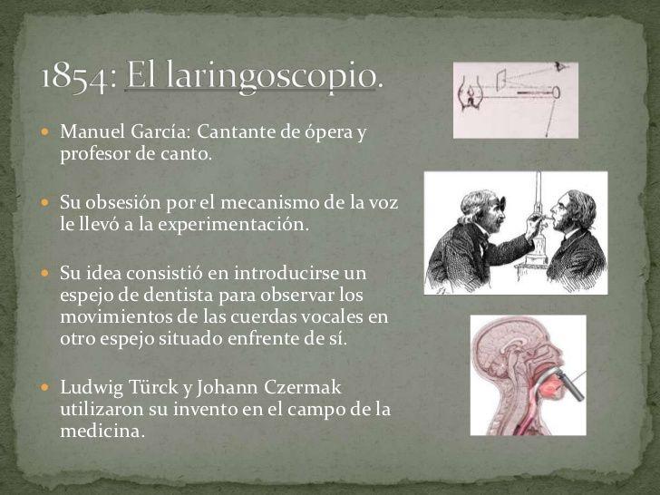  Manuel García: Cantante de ópera y  profesor de canto. Su obsesión por el mecanismo de la voz  le llevó a la experiment...