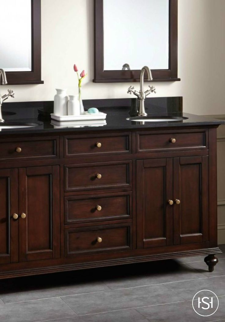 60 Keller Mahogany Double Vanity For Undermount Sinks Dark Espresso