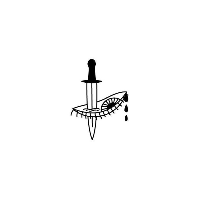 NONSENSE  #proyecto89 #illustration #digitalillustration #digitalart #draw #drawings #monday #tattoo #tattoosketch #minitattoo #flash #tattooflash #tinytattoo #sketch #dagger #eye #tears #pain #nonsense