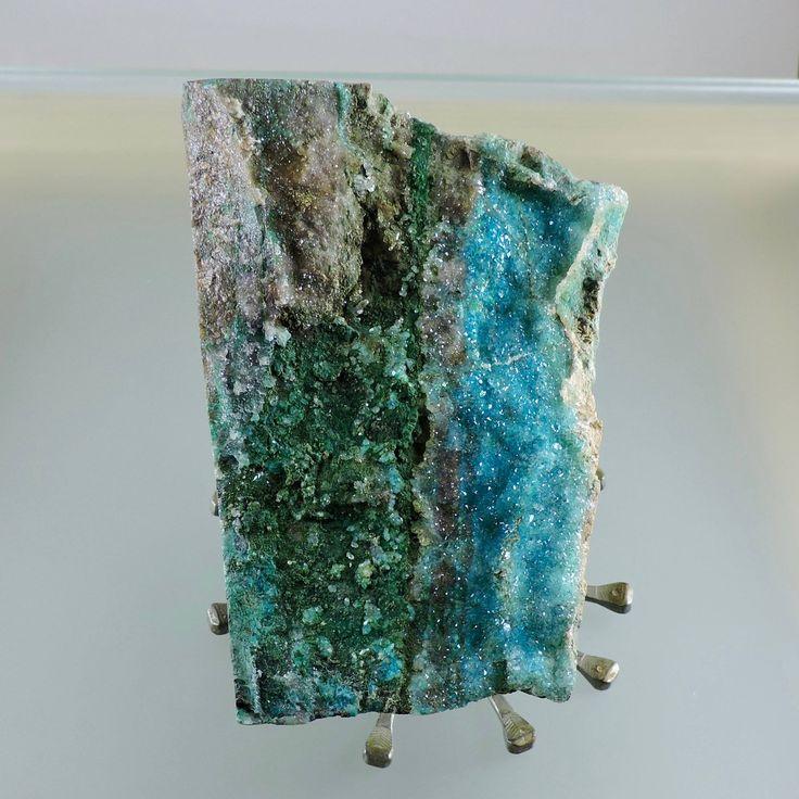 Druzy Chrysocolla Specimen, Druzy Chrysocolla with Malachite and Limonite, Collector Specimen, Object d'Art, Gift Specimen, Arizonacrystalco by Arizonacrystalco on Etsy