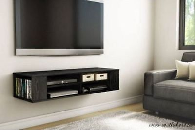 Wall Mounted TV Stand Black Media Console Entertainment Floating Cabinet Center
