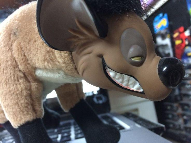 Disney Lion King Mattel Shenzi 1994 Plush Hyena Vinyl Face Rare #Mattel