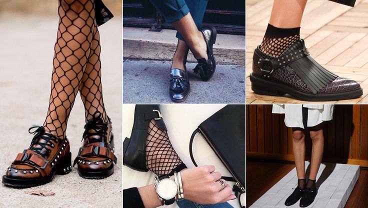 La tendencia de las medias de rejilla vuelve a las pasarelas, aprendemos a combinarlas con las últimas novedades en prendas de ropa...