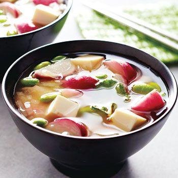 Miso Soup with Radishes and Edamame Recipe - Fresh Juice