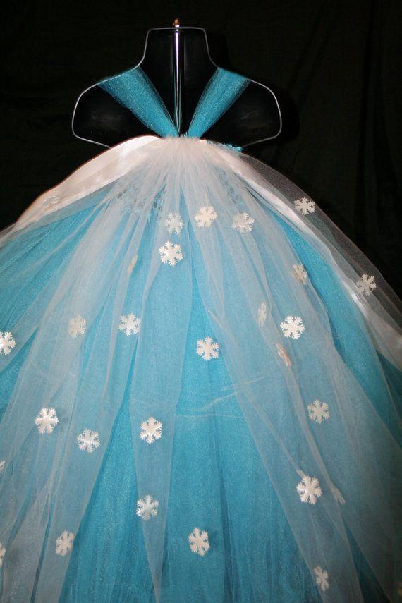 Frozen Inspired Princess Elsa Tutu Dress by LittleMissTrendyTutu
