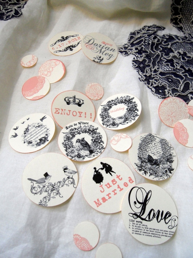wedding table confetti custom 400 large vintage shabby chic french inspired table confetti decoration scrapbooking or guest book