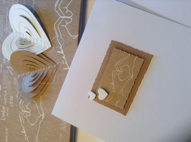 Edle Hochzeitskarte in kraft,  Material von Alexandra Renke
