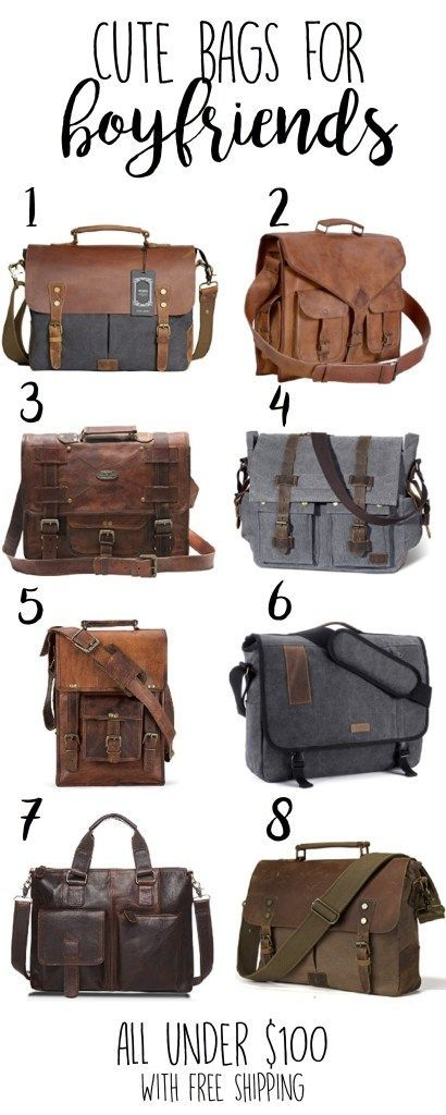 Boyfriend Gifts – Leather Bags for Men – Satchel Bags with free shipping