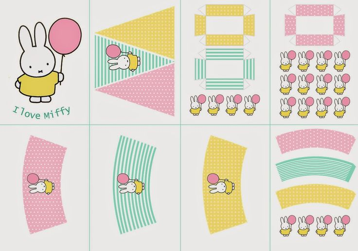 I love Kawaii: Miffy Free Printable Party Kit